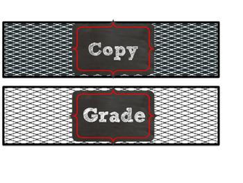 Red & Black Themed Copy, File, & Grade