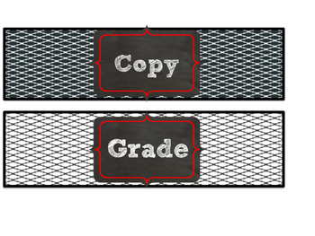 Red & Black Themed Copy, File, & Grade