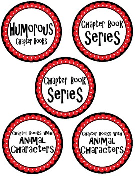 Red, Black, & White Chapter Book Box Labels