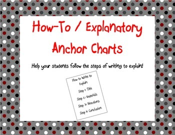 Red, Black, White and Gray Explanatory (How-To) Anchor Charts