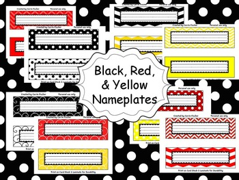 Red, Black & Yellow Nameplates
