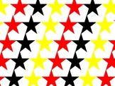 Red Black Yellow Star Image