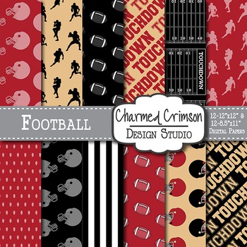 Red Black and Gold Football 1434