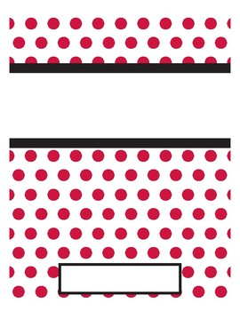 Red, Black and White Binder Covers and Spines