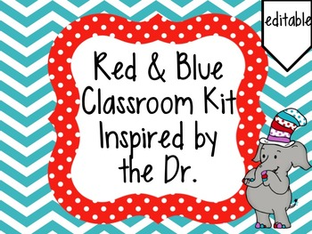 Dr. Seuss inspired classroom kit.