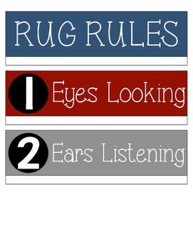 Red, Blue & Gray Rug Rules