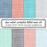 Red, Blue and Gray Crosshatch Digital Paper, Nautical Classroom Decor