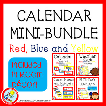 Red Blue and Yellow Calendar Mini-Bundle
