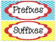 Red, Blue, and Yellow Themed Prefix and Suffix Set
