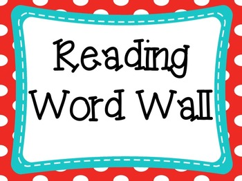 Red, Blue, and Yellow Themed Word Wall Set