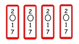 Red Bookmarks 2017