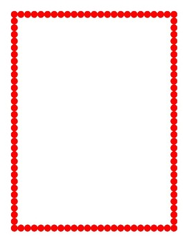Red Border Clipart