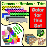 Red Borders Trim Corners * Create Your Own Dream Classroom