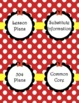 Red Bow Teacher Binder Covers & Spines 2016-2017 (Editable)