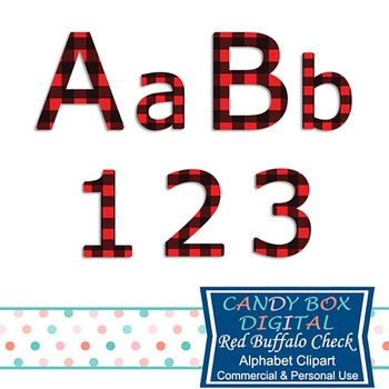Red Buffalo Check Plaid Alphabet