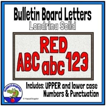 Bulletin Board Letters Red