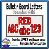 Bulletin Board Letters Red
