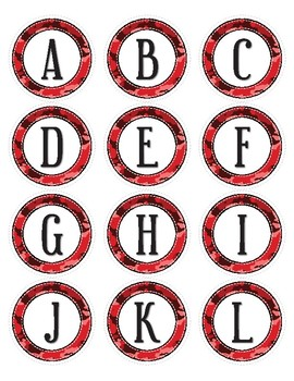 Red Camouflage Dot Labels