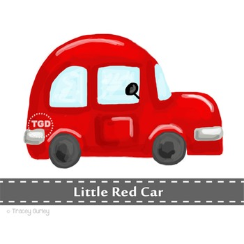 Red Car clip art, clip art for boys, red car Printable Tracey Gurley Designs