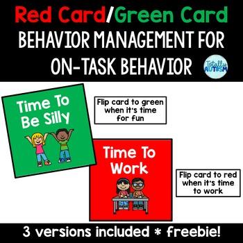 Red Card/Green Card Behavior Management visual-off task behavior