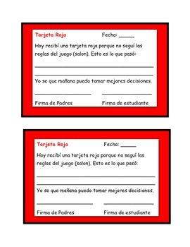 Red Card/Tarjeta Roja