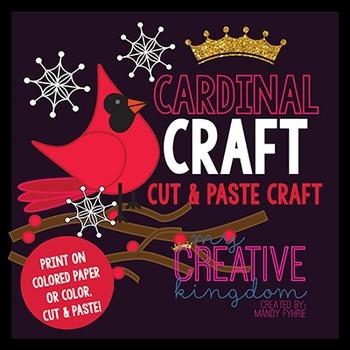 Red Cardinal Bird Craft