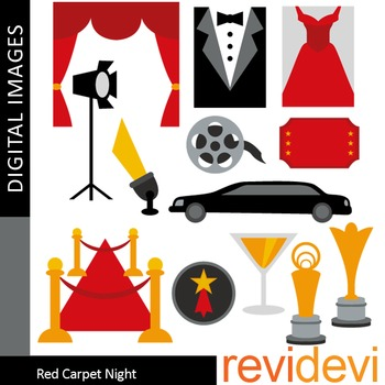 Red Carpet Party Clip art, Hollywood Awards, Red, Black