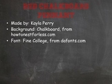 Red Chalkboard Pennant