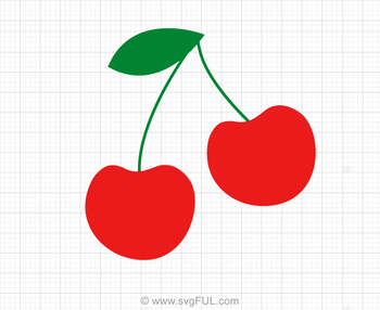 Red Cherries SVG Clip Art