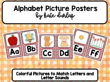 Red Chevron Alphabet Mini Posters