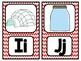 Red Chevron Alphabet Mini Posters