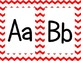 Red Chevron Alphabet (large)