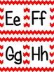 Red Chevron Alphabet (small)