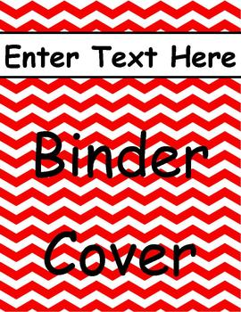 Red Chevron Binder Cover