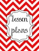 Red Chevron Binder Covers: Organize Your Kodaly Materials by Grade Level