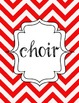 Red Chevron Binder Covers: Organize Your Kodaly Materials