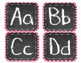 Red Chevron Chalk Alphabet