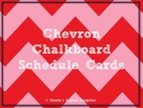 Red Chevron Chalkboard Schedule Cards