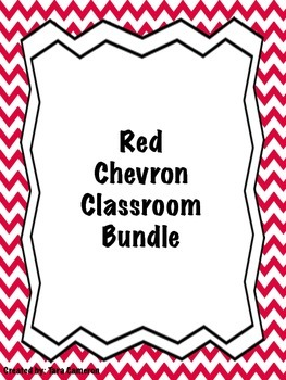 Red Chevron Classroom Bundle