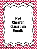 Red Chevron Classroom Bundle