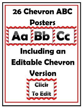 Red Chevron Classroom Decor