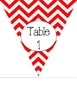 Red Chevron Classroom Decorating Pack