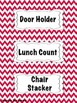 Red Chevron Classroom Jobs