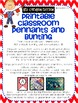 Red Chevron Classroom Pennants and Bunting (Letters, Numbers, Punctuation, etc.)