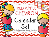 Red Chevron Complete Calendar Set