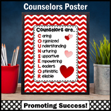 Red Chevron Counseling Office Back to School Counselor Confidentiality Poster