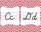 Red Chevron Cursive Alphabet Posters