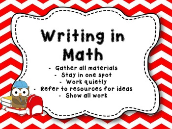 Red Chevron Reading and Math Center Rotation Cards and Headers
