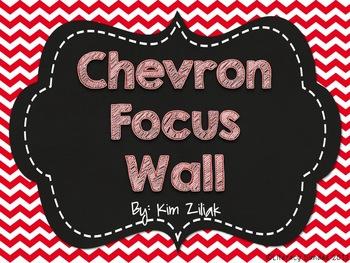 Red Chevron Focus Wall {Chalkboard}
