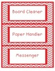 Red Chevron Job Chart